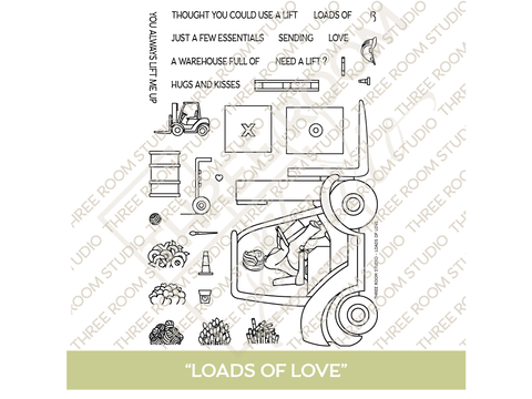 """Loads of Love"" Clear Stamp Set"