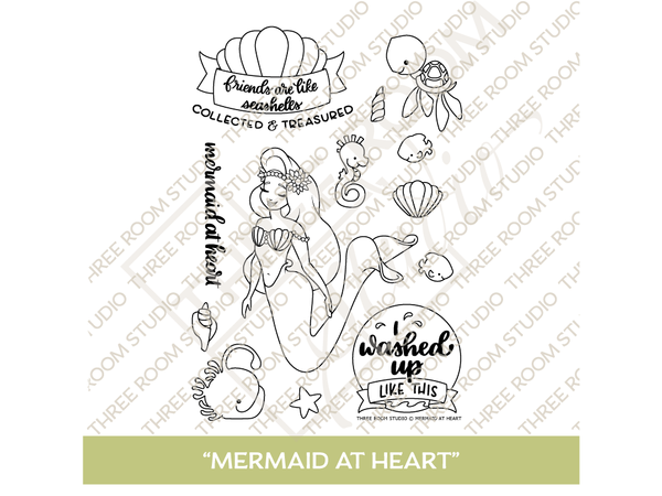 """Mermaid at Heart"" Clear Stamp Set"