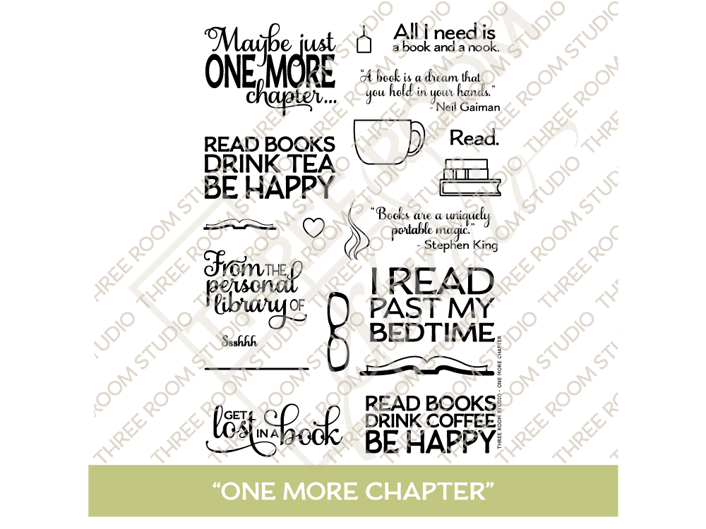 """One More Chapter"" Clear Stamp Set"