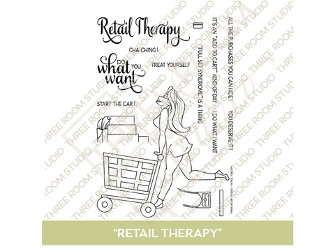 """Retail Therapy"" Clear Stamp Set"