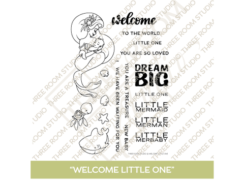 """Welcome Little One"" Clear Stamp Set"