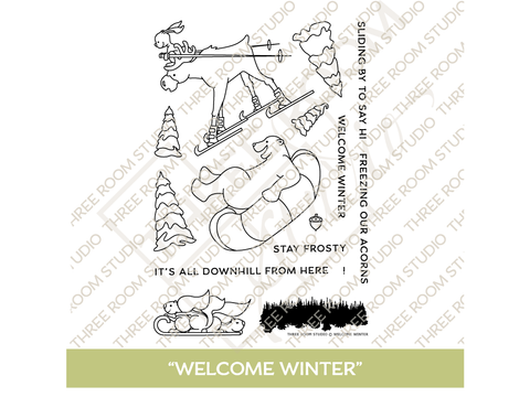 """Welcome Winter"" Clear Stamp Set"