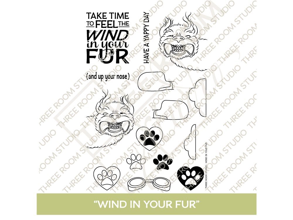 """Wind in Your Fur"" Clear Stamp Set"