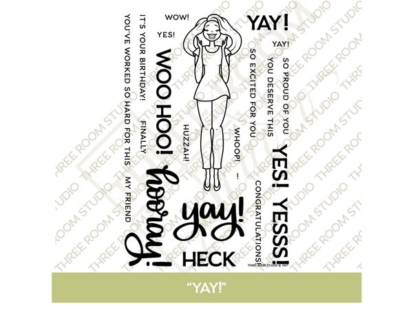 """Yay!"" Clear Stamp Set"