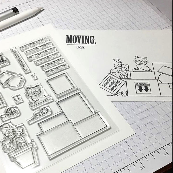 """Moving Sentiments"" Clear Stamp Set"