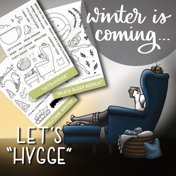 """Let's Hygge"" Clear Stamp Set"