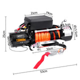 12V 13000 LBS Wireless Synthetic Rope by Giantz FREE SHIPPING!! - All Winches - Giantz - 2
