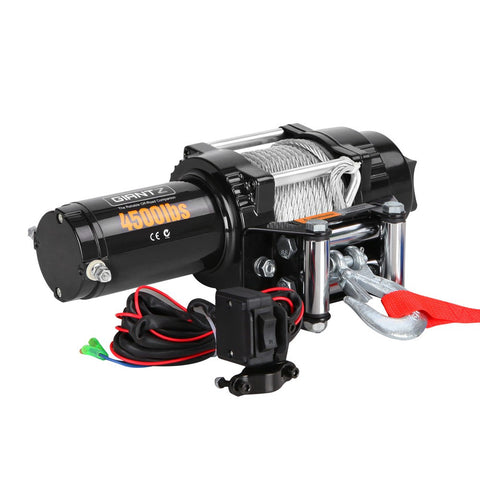 4500LBS Electric Winch ATV 4WD Steel Wire w/ Remote FREE SHIPPING!! - All Winches - Giantz - 1