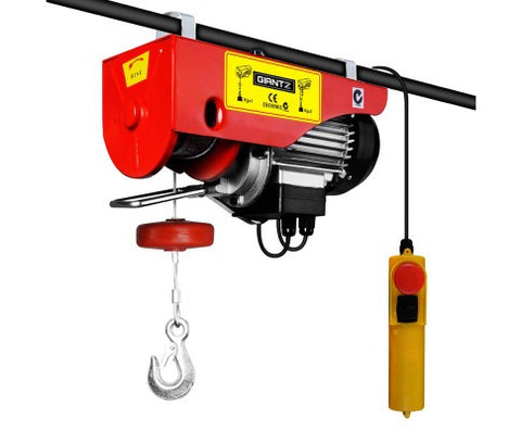 view of giantz 1600w electric lifting hoist
