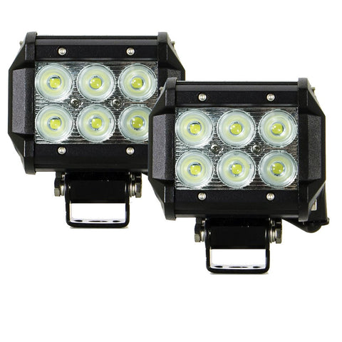 2x 4inch 30W Cree LED Light Bar Flood Work Driving Offroad Lamp Save On 42W
