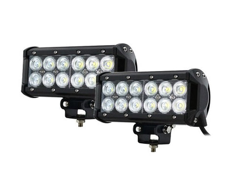 2x 7inch 60w Light Bar Cree LED