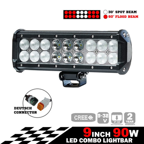All Winches 9inch 90W CREE LED Light Bar VOF-93S90BT
