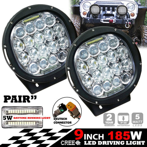 All Winches LED Driving Light VOF-D08-185W-SPOT-RX2