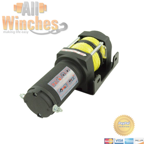 Pullout Winches 3000LBS Synthetic Rope Electric Winch PULLOUT-3000-SR-1