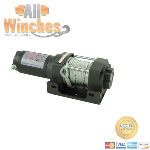 Pullout Winches 3000LBS Steel Cable Electric Winch PULLOUT-3000-SC-1