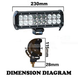 2X 9INCH 90W CREE LED LIGHT BAR SPOT FLOOD OFFROAD DRIVING WORK LAMP 4WD SV 120W