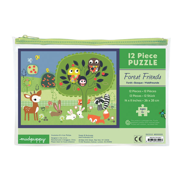 forest friends puzzle - 12 piece