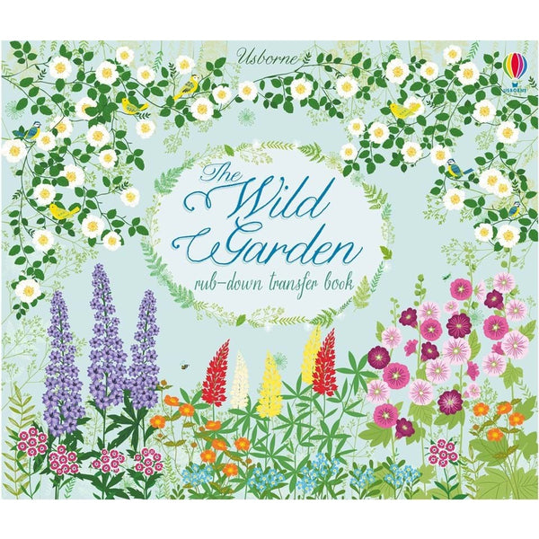the wild garden; rub-down transfer book