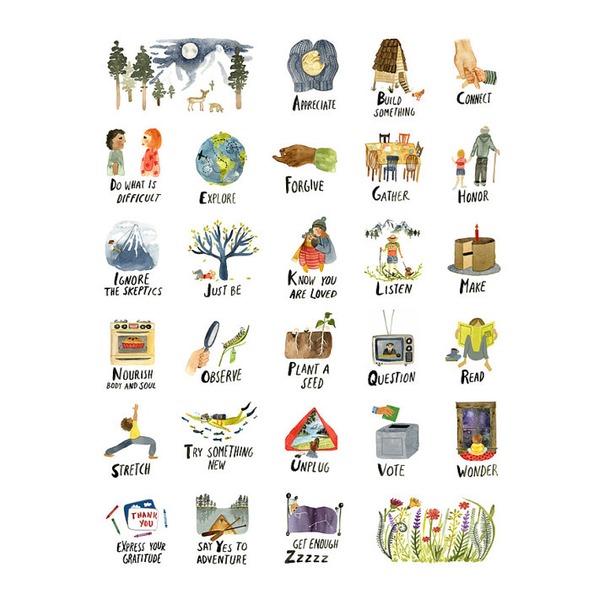 'The ABC's of Life' Print