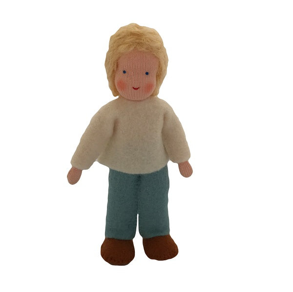 blonde hair dollhouse brother doll