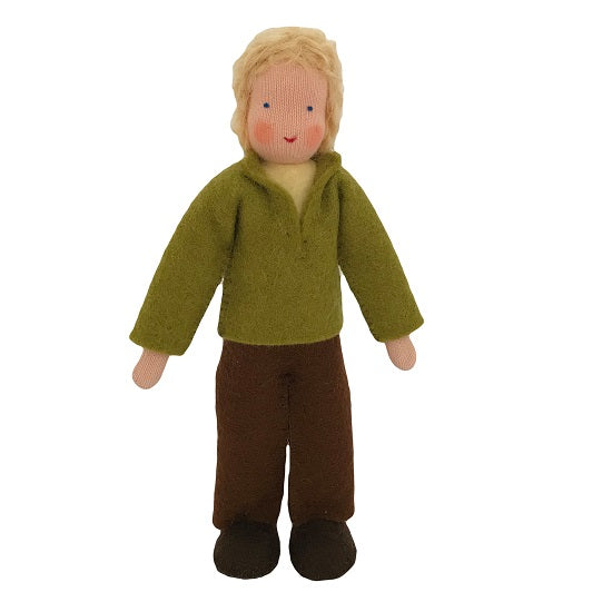 blonde hair dollhouse father doll