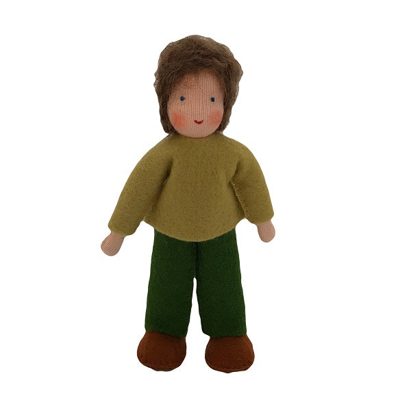 brown hair dollhouse brother doll