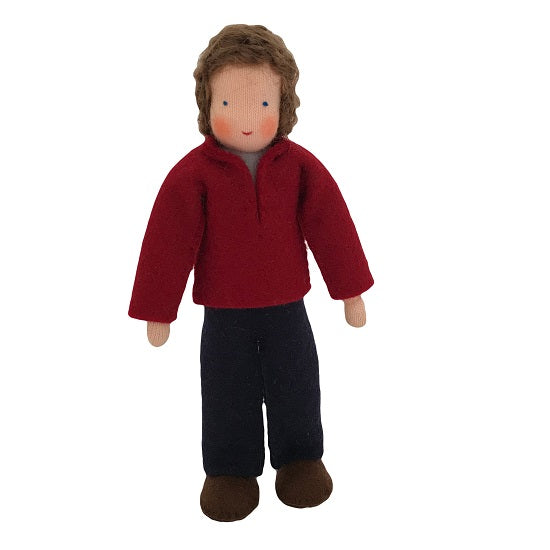 brown hair dollhouse father doll