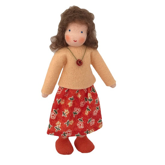 brown hair dollhouse mother doll
