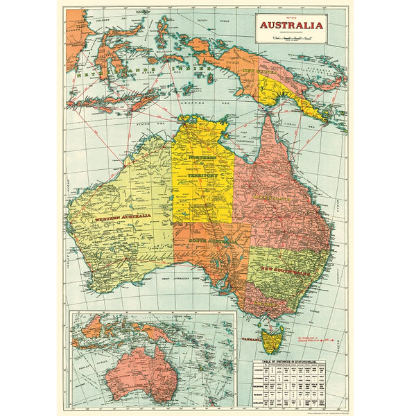 vintage-style poster - map of australia