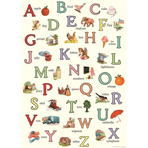 vintage-style poster - alphabet
