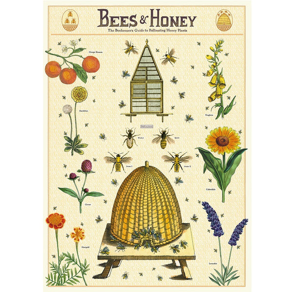 vintage-style poster - beehive
