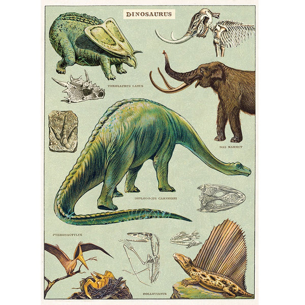 vintage-style poster - dinosaurs