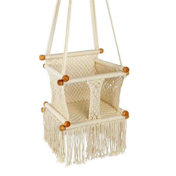 macrame children's swing