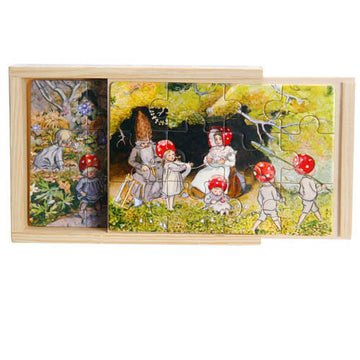 'the children of the forest' boxed puzzles - set of 4, 12 piece