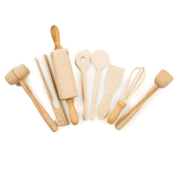 wooden utensil set