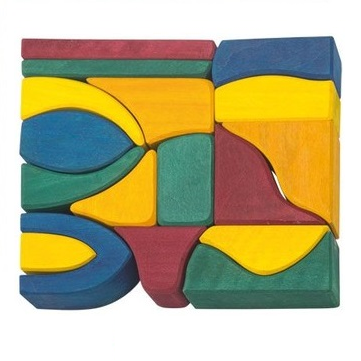 coloured wooden blocks