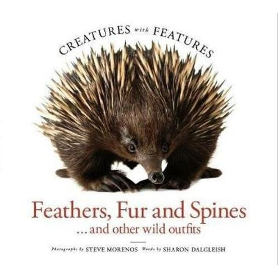creatures with features; feathers, fur and spines