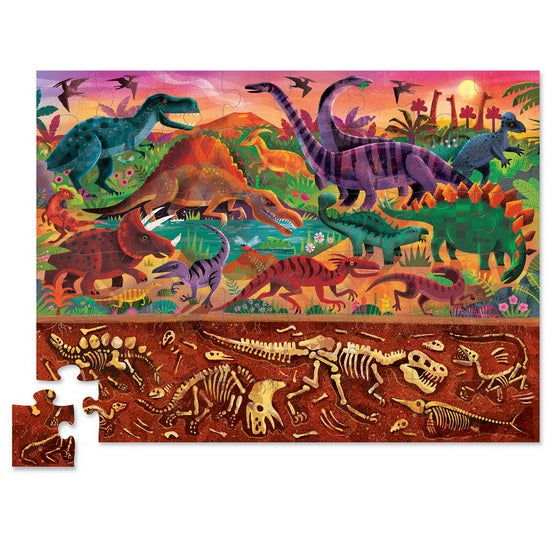 above and below dinosaur world puzzle - 48 piece