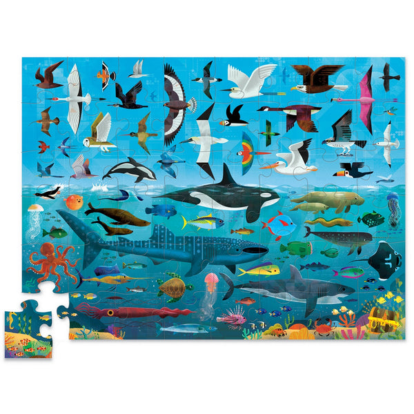 above and below sea and sky puzzle - 48 piece