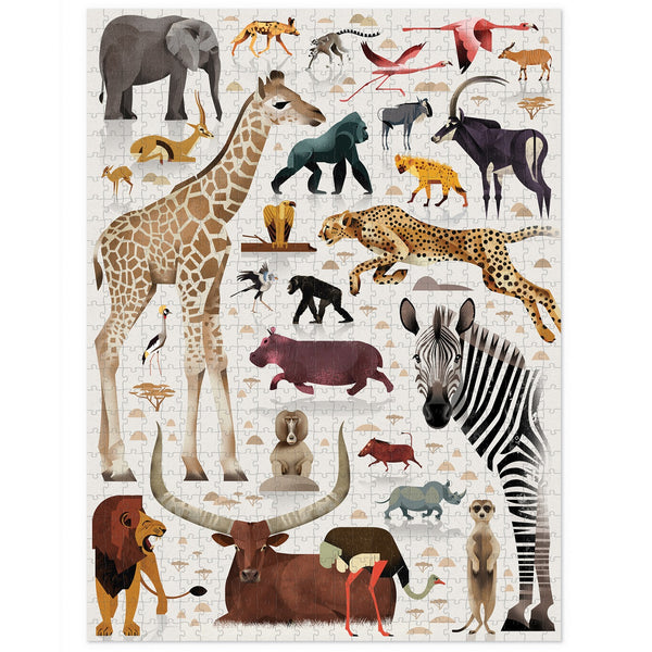 world of african animals puzzle - 750 piece