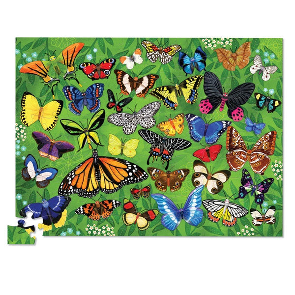 thirty six butterflies puzzle - 100 piece
