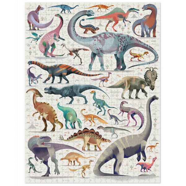 world of dinosaurs puzzle - 750 piece