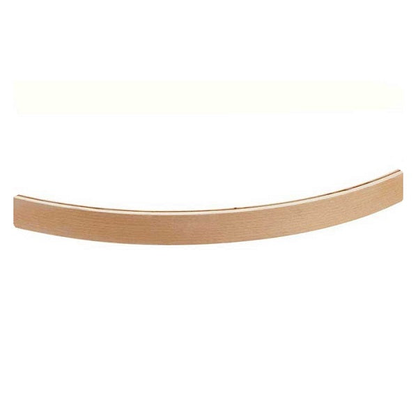 curved wooden card holder