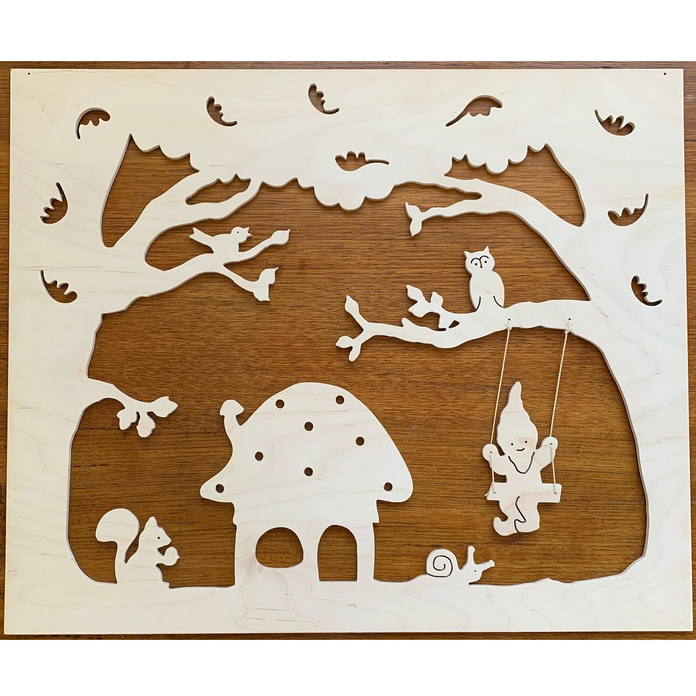 large wooden autumn silhouette