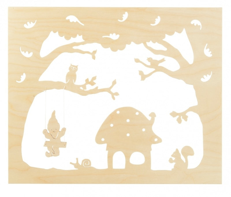 small wooden autumn silhouette