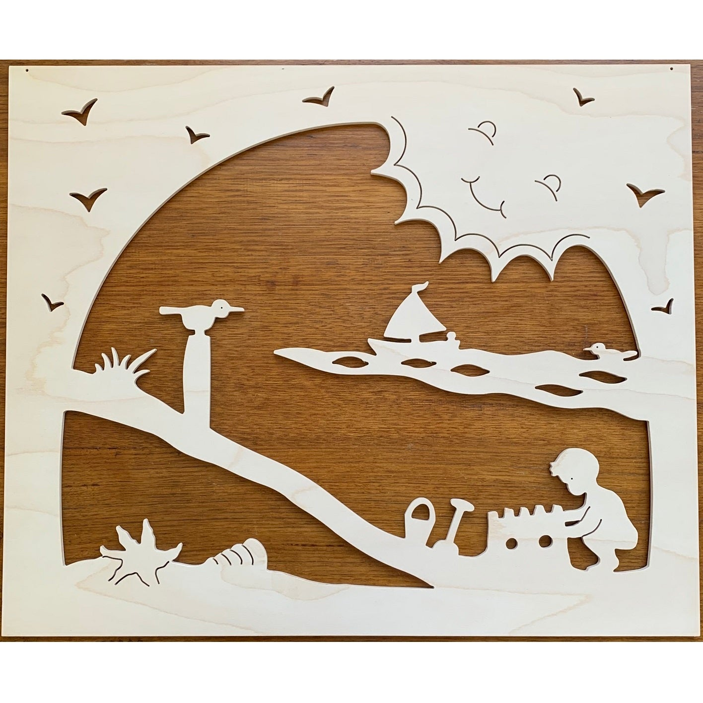 large wooden summer silhouette