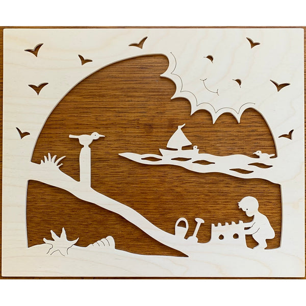 small wooden summer silhouette