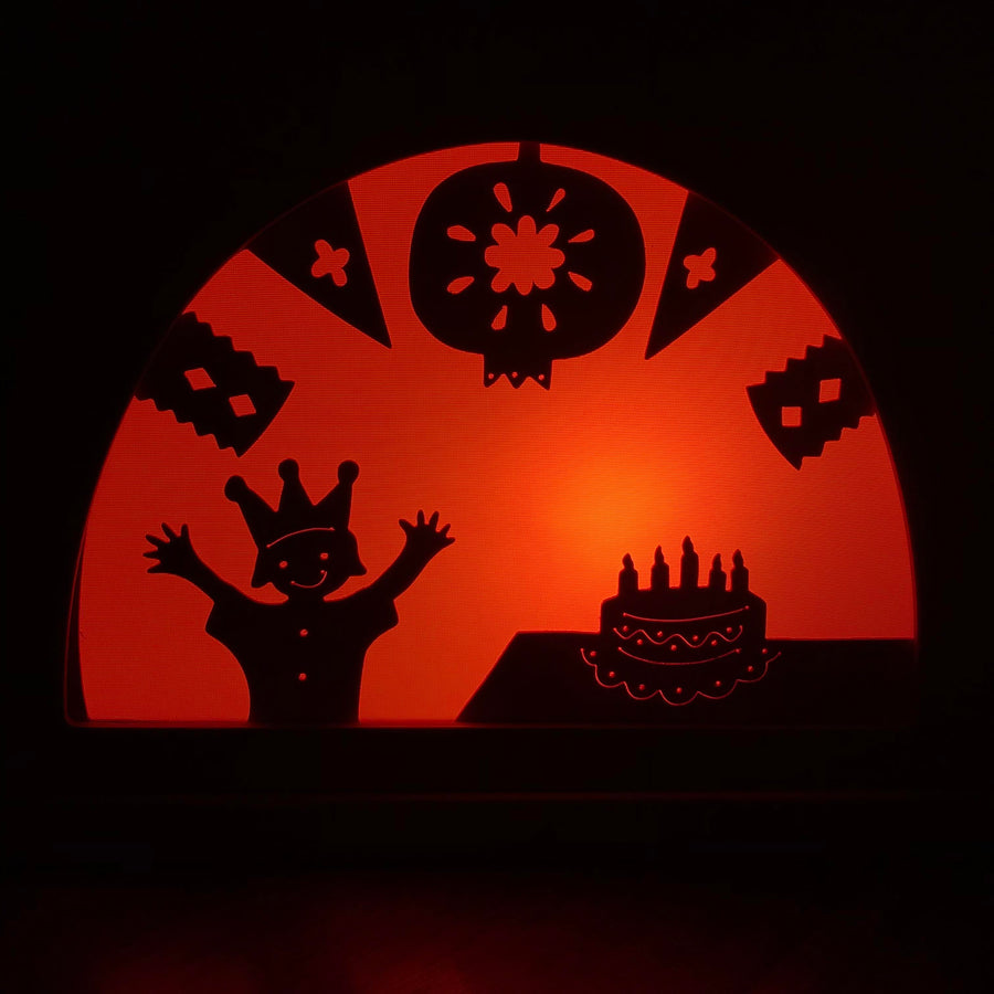 birthday silhouette