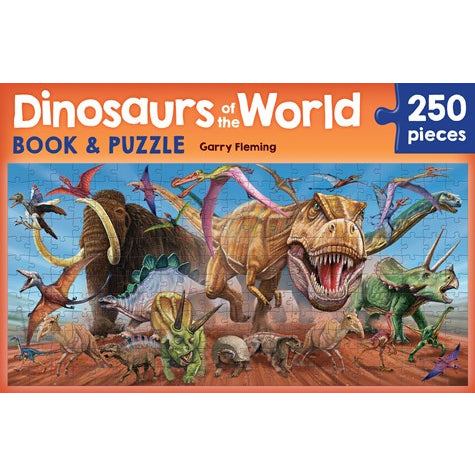 dinosaurs of the world book and puzzle - 250 pieces