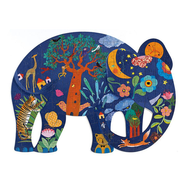 elephant art puzzle - 150 pieces